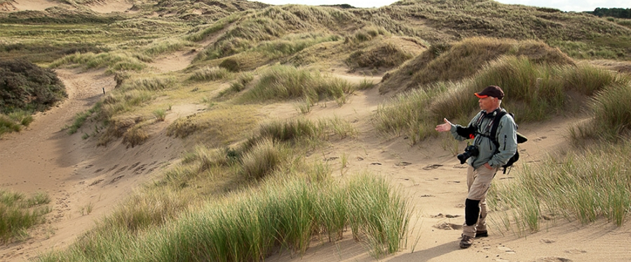 Joost Bouwmeester in the dunes
